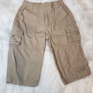 Boys Green Dog Khaki Cargo Pull On Pants